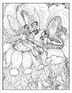 Fantasy fairy coloring pages Detailed Coloring Pages, Fairy Coloring Pages, Princess Coloring Pages, Printable Adult Coloring Pages, Coloring Pages For Girls, Cartoon Coloring Pages, Mandala Coloring Pages, Coloring Pages To Print, Free Coloring Pages