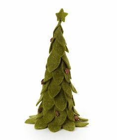 Look at this Green Christmas Tree Figurine on #zulily today!