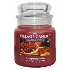 Village Candle Limited Edition Medium Jar - Pomegranate Jubilee