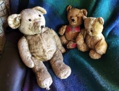 This my latest bear, on the left, I name him Philip.