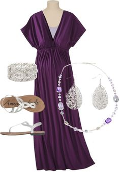 """""""Soho Grape Maxi"""" by sarah-noonan-dlugosh on Polyvore (dress is """"maternity"""" but does not fit like a maternity dress...)"""