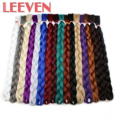 Cheap lot, Buy Quality lot lot Directly from China Suppliers:Leeven Jumbo Braids Synthetic Kanekalon Braiding Hair Extensions Blue Pink White Color Fiber crochet Hair 1Pcs/lot