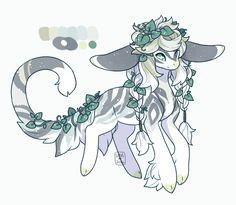 ~MYO Yenomi~ Emerald Ivy by LunarAdopts on DeviantArt Mythical Creatures Art, Mystical Animals, Mythological Creatures, Cute Creatures, Fantasy Creatures, Cute Animal Drawings, Kawaii Drawings, Cute Drawings, Creature Drawings