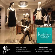 Linda vitrine da loja Twister de Jau/SP com manequins da My Store Brasil! #manequinsexclusivos #mystorebrasil #vm