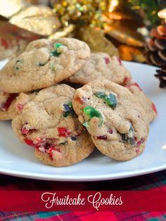 Chewy Light Fruitcake Cookies - an unspiced version of our very popular dark fruitcake cookie; all the seasonal flavour of fruitcake in a chewy, crispy cookie.