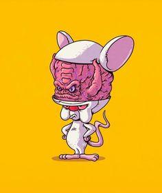 Kraang as The Brain by Alex Solis