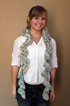 A personal favorite from my Etsy shop https://www.etsy.com/listing/112438480/one-of-a-kind-crocheted-scarf