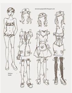 Miss Missy Paper Dolls: April 2012