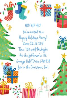 Best Holiday Ever   Free Printable Christmas Invitation Template  Free Xmas Invitations