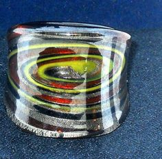 Fused Art Glass finger ring in  size 7 #Unbranded #Rings