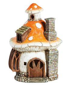 Look at this #zulilyfind! Mushroom Village Light-Up Fairy House II Garden Décor #zulilyfinds