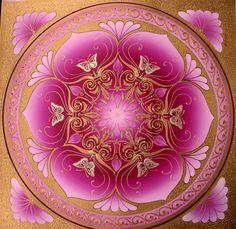 #Mandala - Contemplation on #Pink Lotus by Karen Scott