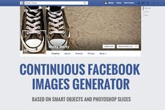 Continuous Facebook Images Generator by DesignSomething on Creative Market