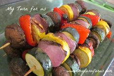 Grilled Veggie Kabobs - My Turn for Us