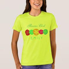 Sand Dollars Artistic Flower Girl Name T-Shirt