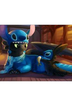 Toothless & Stitch *.*