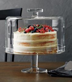 Shop Footed Cake Stand with Dome. For spectacular dessert presentation, our cake stand is generously sized to accommodate larger cakes or tortes. Fitted dome preserves freshness, has functional knob handle for easy lifting. Kitchen Items, Kitchen Utensils, Kitchen Decor, Cooking Utensils, Cake Stand With Dome, Cake Dome, Cupcake Stands, Tiramisu Dessert, Glass Cakes