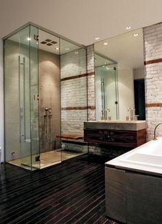 Meubles de salle de bains baignoire en bois rustique for Salle de relaxation