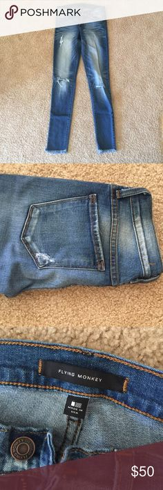 Flying Monkey distressed jeans Never worn • Very stretchy •super comfortable. Flying Monkey Jeans Skinny