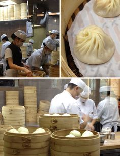 Din Tai Fung: made in Taiwan  Imagine wandering out into an unknown city, so hungry you're willing to eat nearly anything at all, and fifteen minutes later being served some of the finest food you've ever tasted. This was our dumb luck at Din Tai Fung in Singapore a few weeks ago. Din Tai Fung is a Taiwanese chain of restaurants with several locations in Asia. In the thirty years since the founders started selling steamed pork buns in their Taipei flagship, Din Tai Fung has e