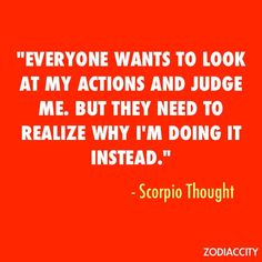 Scorpio Thought