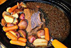 Crock Pot Beef Roast, Carrots