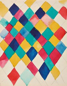 MoMA | Inventing Abstraction | Vasily Kandinsky | Farbstudie mit Rauten (Color study with lozenges). 1913