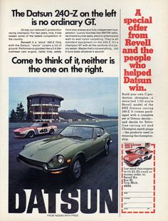 A Special Offer from Revell and the People Who Helped Datsun Win