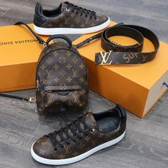 2017 Latest Louis Vuitton Outlet. A Perect Style, Louis Vuitton Monogram Sneaker, Belt And Spring Backpack For Fashion Women & Men