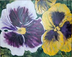 Pansies - Watercolor on Canvas