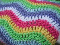 Rainbow Ripple Crochet Baby Blanket by StitchesNFolds on Etsy, $60.00