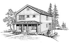 """Plan No: W23032JD Style: Country Total Living Area: 2,457 sq. ft. Main Flr.: 1,008 sq. ft. 2nd Flr: 943 sq. ft. Lower Level: 506 sq. ft. Front Porch: 144 sq. ft. Deck: 192 sq. ft. Garage: 2 Car, 502 sq. ft. Bedrooms: 4 Full Bathrooms: 3 Half Bathrooms: 1 Width: 24' Depth: 42' Maximum Ridge Height: 23'5"""" Exterior Walls: 2x6 Ceiling Height:      Main Floor: 8'     2nd Floor: 8'     Lower Floor: 8' Special Features: Media-Game-Home Theater, 2nd Floor Master Suite"""