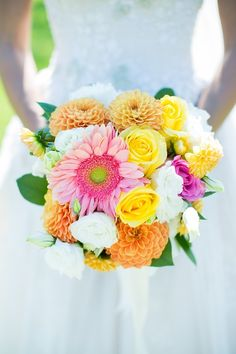 super summery and bright bouquet