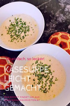 Diese Käsesuppe geht ganz schnell und ist dabei super einfach. Ganz frei nach Leo Lausemaus, der Käsesuppe liebt. Wie meine Kinder! Cheeseburger Chowder, Cantaloupe, Soup, Super Simple, Food And Drinks, Cooking, Kids, Recipies, Soups