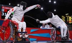 Wheelchair Fencing Day 5 - great photo!