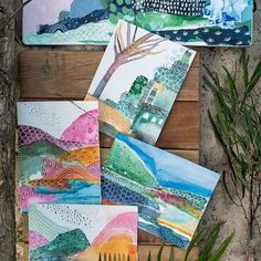 Laura horn art в 2019 г. watercolor art, art и collage art Watercolor Landscape, Abstract Watercolor, Watercolor Illustration, Abstract Art, Art Journal Inspiration, Art Inspo, Collage Techniques, Decoupage, Teaching Art