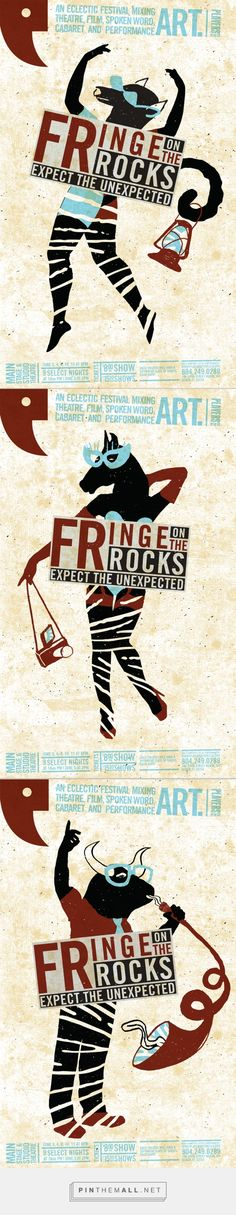 Fringe on the Rocks Festival Poster Campaign on Behance