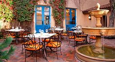 One of my favorite exteriors is the Spanish style architecture. I would love to have a courtyard/backyard like this.