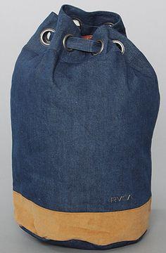 The Slingshot Sailor Denim Duffle Bag by RVCA