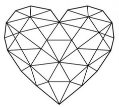 Strepik Geometrical Heart fake tattoo, a geometric heart built from triangles. L… Strepik Geometrical Heart fake tattoo, a geometric heart built from triangles. Love sometimes looks complicated, but it really isn't! Origami Tattoo, Fake Tattoos, Trendy Tattoos, Love Drawings, Art Drawings, Hart Tattoo, Triangle Love, Triangle Art, Geometric Drawing
