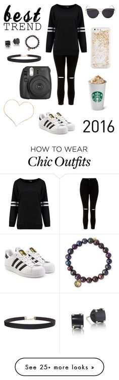 """""""Trendy outfit"""" by cheleniak on Polyvore featuring New Look, ban.do, adidas Originals, Sydney Evan, Humble Chic and Fujifilm"""