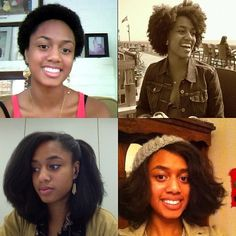 And just to put it in to perspective… Top left is my big chop. Top right is summer 2012. Bottom left and right is fall 2012. #naturalhair #naturalhairdaily  #teamnatural #natural #growth #hairjourney #luvyourmane #blog