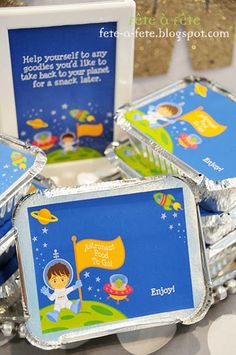 Take out boxes - Little Astronaut Birthday Party by Fête à Fête