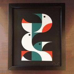 Waterbirds Framed 8.5x11