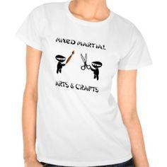 Mixed Martial Arts Crafts Tee Shirts