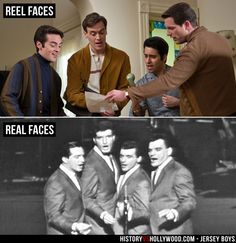 We examine the Jersey Boys true story vs. Meet the real Frankie Valli, Tommy DeVito, Bob Gaudio, Nick Massi and gangster Gyp DeCarlo. It Movie Cast, I Movie, Tommy Devito, John Lloyd Young, Frankie Valli, Movies For Boys, Jersey Boys, Clint Eastwood