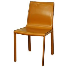 Gervin Recycled Leather Dining Chair, Chestnut - Harrington Galleries