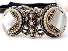 Vintage MOP Bracelet Victorian Revival by TheJewelryLadysStore, $94.00