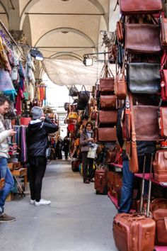 #Florence is known for it's #leather market and products.