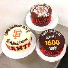 Batter up! @sfgiants are #sweetly celebrating with @karascupcakes cakes today #ATTpark! 1600 Wins for Boch! #Sweet celebration for Huddy's 2000 Ks! #Sweet Congrats Petit!'s 46 Retired Batters! #karascakes #xoxokaras #SFGiants #GoGiants